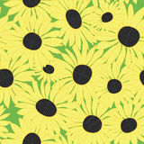 Floral pattern with sunflowers - vector Royalty Free Stock Photo