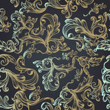 Floral pattern with swirls for design. Ideal for fashion fabric. Designs Royalty Free Stock Photo