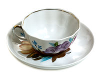 Floral pattern teacup Stock Photos