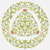 Floral pattern thistle and bindweed stock illustration
