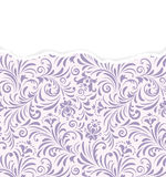 Floral pattern with torn paper. Stock Photos
