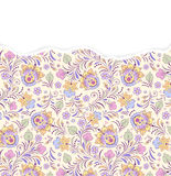 Floral pattern with torn paper Stock Image