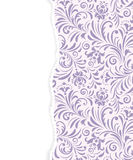 Floral pattern with torn paper Stock Photography