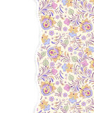 Floral pattern with torn paper Royalty Free Stock Photo