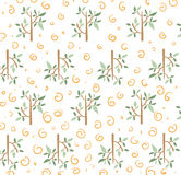 Floral pattern. Trees and rolls Royalty Free Stock Images