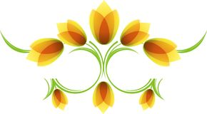 Floral pattern with tulips Stock Photos