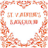 Floral Pattern, Valentine Hearts Stock Image