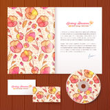 Floral pattern vector business style template Stock Photo