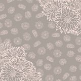 Floral pattern. Vector illustration. Beautiful background. Endless texture can be used for printing onto fabric and paper or scrap Royalty Free Stock Images
