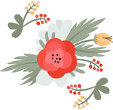 Floral pattern. Vector illustration Royalty Free Stock Photos