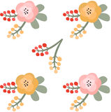 Floral pattern. Vector illustration Royalty Free Stock Image