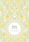 Floral pattern vector illustration. Floral pattern in art nouveau style, vintage, old, retro style. Template for invitation, greeting card, banner, gift voucher vector illustration