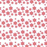 Floral pattern vector seamless with flowers gentle spring flora wallpaper textile design nature blossom wrapping Stock Photos