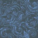 Floral pattern vector vintage elegant style, soft blue color Stock Illustration