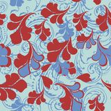 Floral pattern vector vintage elegant style, soft blue color wit Stock Illustration