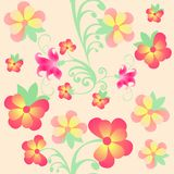 Floral  pattern with violet Stock Photos