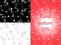 Floral pattern. Wallpaper baroque, damask. Stock Photo