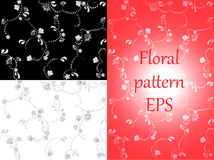 Floral pattern. Wallpaper baroque, damask. Stock Image