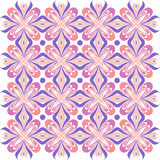 Floral pattern. Wallpaper baroque, damask. Seamless vector background. Purple and pink color vector illustration