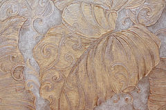 floral pattern on wallpaper Royalty Free Stock Photo