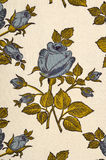 Floral pattern on white fabric. Royalty Free Stock Images