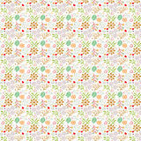 Floral pattern on white (seamless). Seamless floral pattern on white Royalty Free Stock Photos