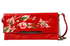 A floral pattern women hand bag Royalty Free Stock Photography