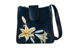 A floral pattern women hand bag Stock Image