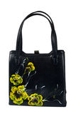 A floral pattern women hand bag Royalty Free Stock Images