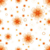 Floral pattern. Yellow flowers on a white background, seamless pattern Stock Illustration