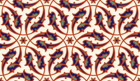 Floral pattern for your design. Traditional Turkish � Ottoman seamless ornament. Iznik. Vector background stock illustration