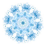 Floral pattern for your design, winter concept Stock Photos