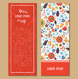 Floral patterned card set Stock Image