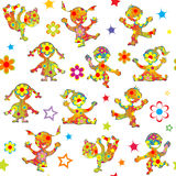 Floral patterned children background Stock Images