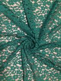Floral patterned green lace Royalty Free Stock Photography