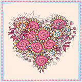 Floral patterned heart Stock Images