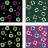 Floral patterns. 4 seamless multicolored floral patterns Stock Photography