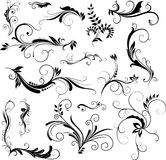 Floral patterns. Set of hand drawn floral patterns - elements for your design Royalty Free Stock Photos