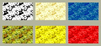 Floral patterns. Background, border or texture - Floral patterns - gray, black, yellow, blue, red Royalty Free Stock Photography