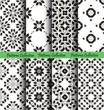 Floral Patterns Backgrounds from Leaves. Floral backgrounds set. Seamless patterns from leaves. Elegant ornament for damask wallpaper, fabric, paper, invitation Stock Image