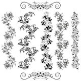 Floral patterns in black Royalty Free Stock Photo
