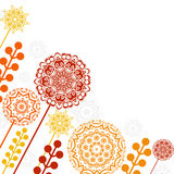 Floral patterns and mandalas Royalty Free Stock Images