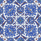 Floral patterns on Ottoman tiles, istanbul, turkey. Detail from tiles found in Rustempasa Mosque Royalty Free Stock Images