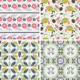 Floral Patterns and seamless backgrounds. Printing onto fabric Stock Photography
