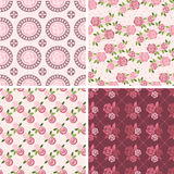 Floral Patterns and seamless backgrounds. Printing onto fabric Stock Photo