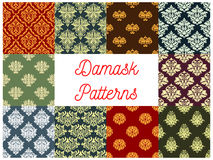 Floral patterns of seamless Damask flower tracery Royalty Free Stock Photography