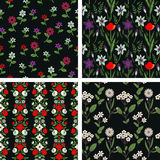 Floral patterns Stock Images