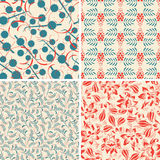 Floral patterns in set Royalty Free Stock Photo