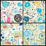 Floral Patterns Set Stock Photo