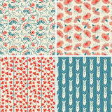 Floral patterns in set Royalty Free Stock Photography